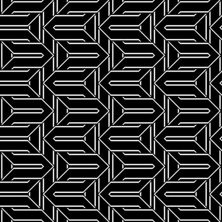 Design seamless monochrome zigzag pattern. Abstract stripy background. Vector art Stock Vector - 101815961