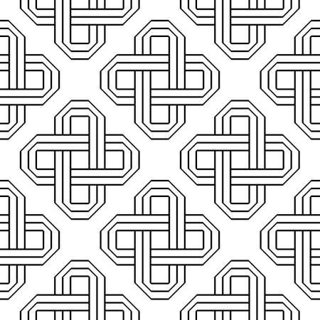 Design seamless monochrome geometric pattern. Abstract background. Vector art