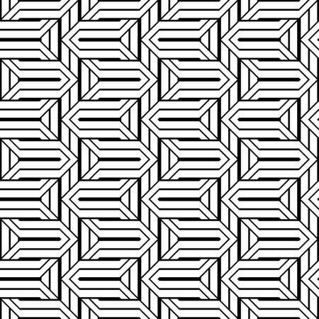 Design seamless monochrome zigzag pattern. Abstract stripy background. Vector art Stock Vector - 101816008