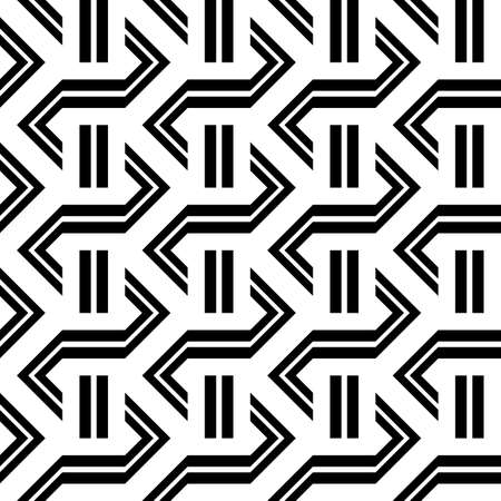 Design seamless monochrome zigzag pattern. Abstract stripy background. Vector art Stock Vector - 103477799