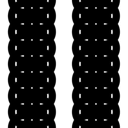 Design seamless monochrome strip pattern. Abstract waving background. Vector art. No gradient
