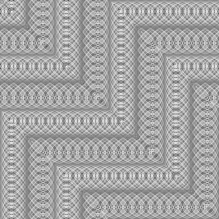 Design seamless monochrome zigzag pattern. Abstract decorative background. Vector art. No gradient