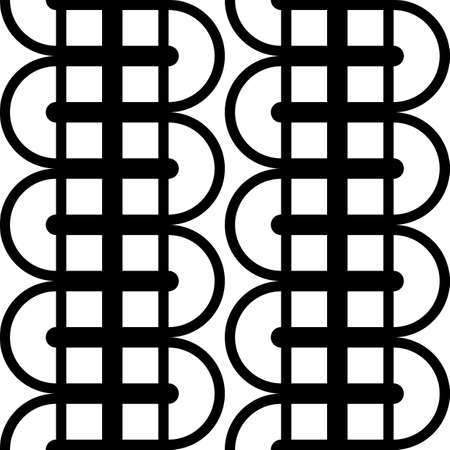 Design seamless monochrome grid pattern. Abstract lines textured background. Vector art. No gradient