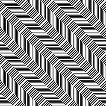 Design seamless monochrome zigzag pattern. Abstract stripy background. Vector art Stock Vector - 115003367
