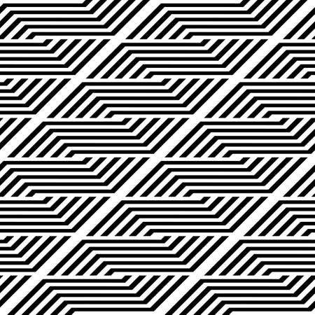 Design seamless monochrome zigzag pattern. Abstract stripy background. Vector art Stock Vector - 114752969