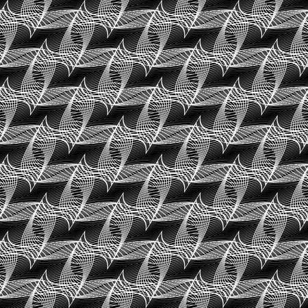 Design seamless monochrome decorative pattern. Abstract lines textured background. Vector art. No gradient
