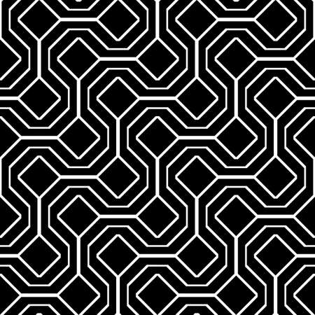 Design seamless monochrome zigzag pattern. Abstract diamond background. Vector art
