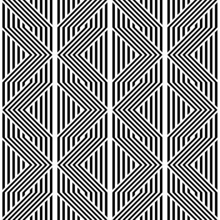 Design seamless monochrome geometric pattern. Abstract background. Vector art Vektorové ilustrace