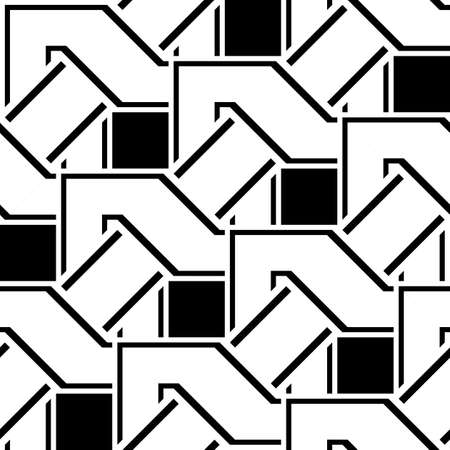 Design seamless monochrome zigzag pattern.