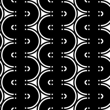 Design seamless monochrome waving pattern. Abstract background. Vector art Stock Vector - 106592388