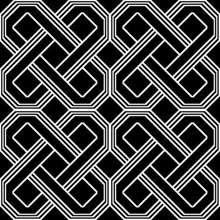 Design seamless monochrome geometric pattern. Abstract background. Vector art