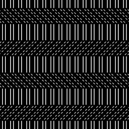 Design seamless monochrome zigzag pattern. Abstract background. Vector art Stock Vector - 111701187