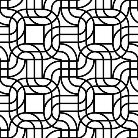 Concevoir un motif géométrique monochrome sans soudure. Fond texturé de lignes abstraites. Art vectoriel