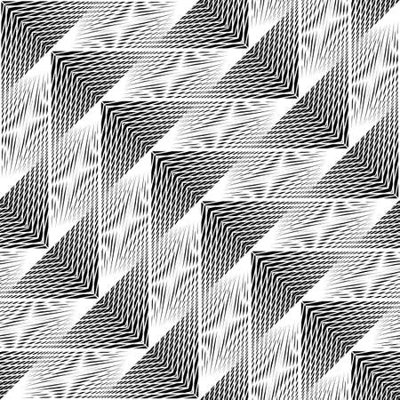 Design seamless monochrome geometric pattern. Abstract illusion background. Vector art. No gradient Stock Vector - 107304535