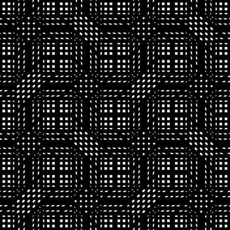 Design seamless monochrome geometric pattern. Abstract lines textured background. Vector art