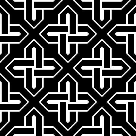 원활한 흑백 기하학적 패턴을 디자인합니다. 추상적 인 배경입니다. 벡터 아트