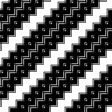 원활한 흑백 지그재그 패턴 디자인. 추상적 인 배경입니다. 벡터 아트
