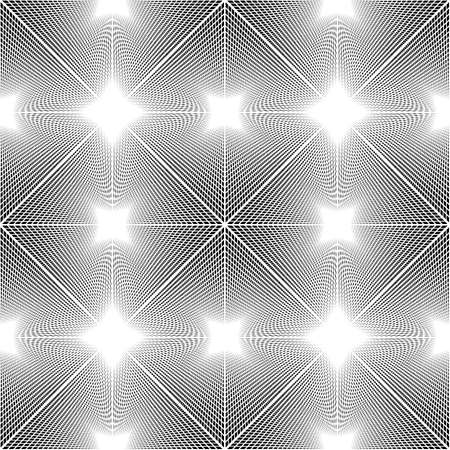Design seamless monochrome grating pattern. Abstract illusion background. Vector art. No gradient