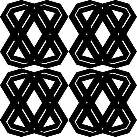 Modello geometrico monocromatico senza cuciture di progettazione. Sfondo astratto Arte vettoriale