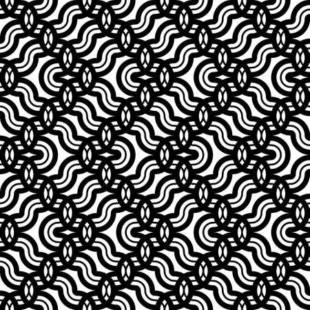 Design seamless monochrome zigzag pattern. Abstract grating background. Vector art