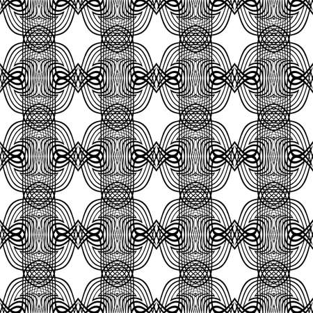 Design seamless monochrome grid pattern. Abstract lacy background. Vector art