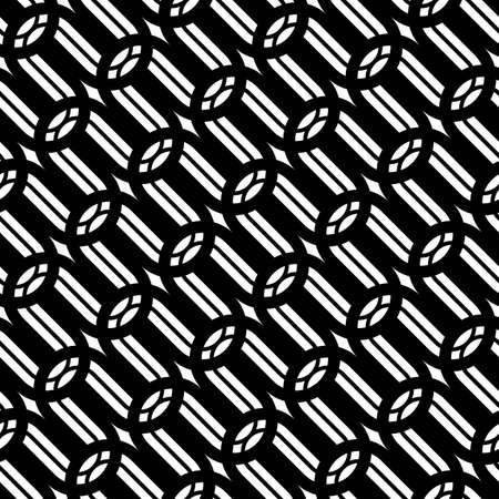 Design seamless monochrome grating pattern. Abstract background. Vector art Vettoriali