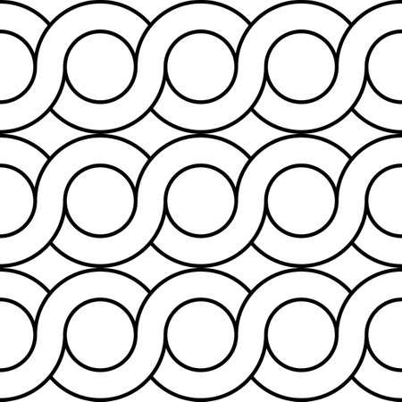 Projekt bezszwowe spirala skręcone wzór. Streszczenie tło koło monochromatyczne. Grafika wektorowa