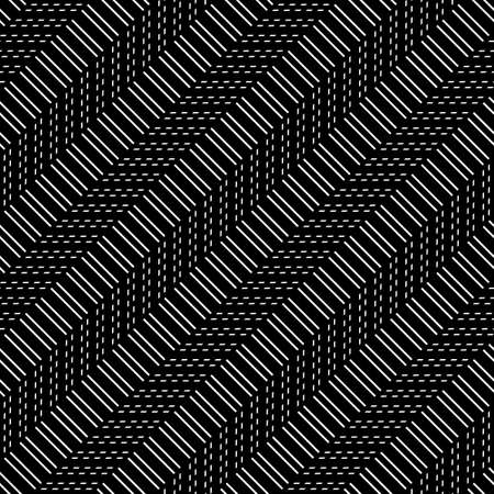 Design seamless monochrome zigzag pattern. Abstract background. Vector art Stock Vector - 127282112