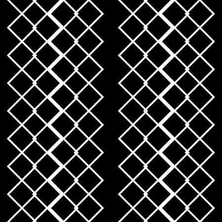 Design seamless monochrome grid pattern. Abstract background. Vector art Ilustração
