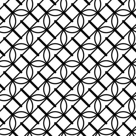 Design seamless monochrome waving pattern. Abstract lines textured background. Vector art
