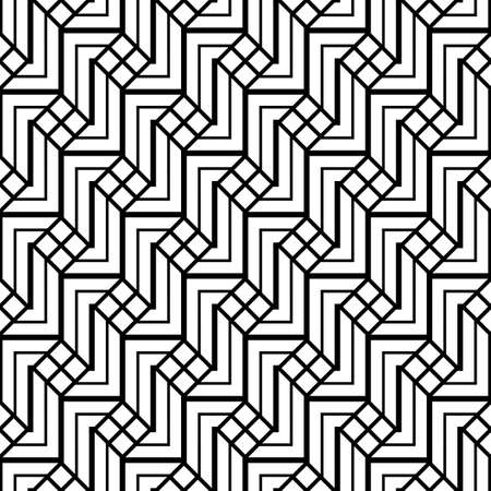 Design seamless monochrome grating pattern. Abstract background. Vector art Çizim