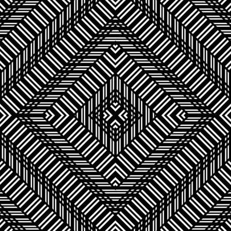 Design seamless monochrome diamond pattern. Abstract geometric background. Vector art