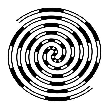 Design monochrome labyrinth illusion background. Abstract design element. Vector-art illustration