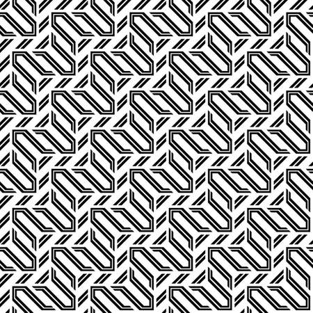 Design seamless monochrome zigzag pattern. Abstract stripy background. Vector art