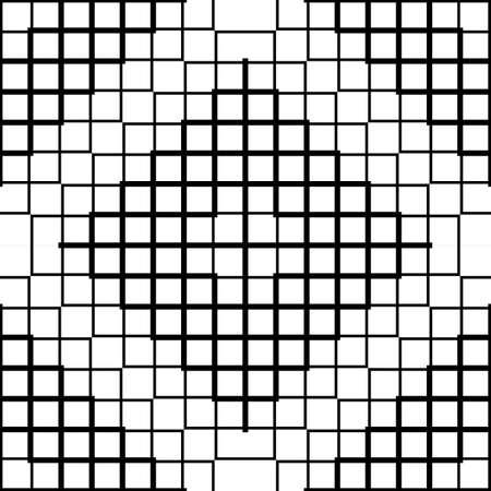 Design seamless monochrome grid pattern. Abstract background. Vector art 向量圖像