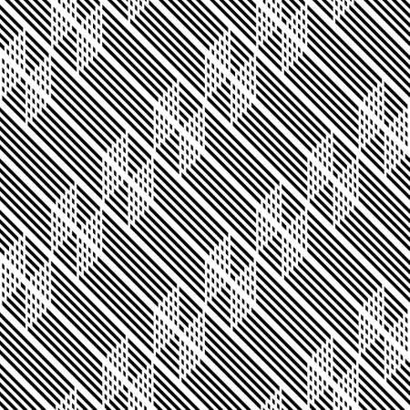Concevoir un motif en zigzag monochrome sans soudure. Abstrait. Art vectoriel Vecteurs