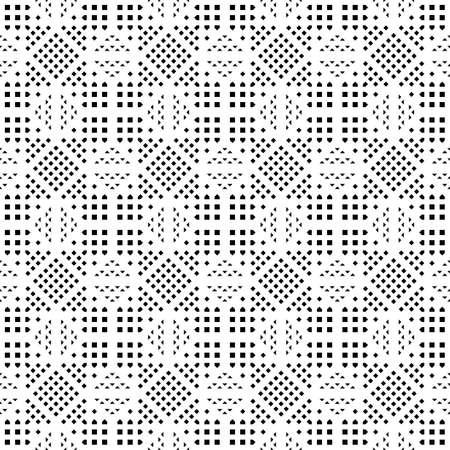 Design seamless monochrome grating pattern. Abstract background. Vector art Vektorové ilustrace