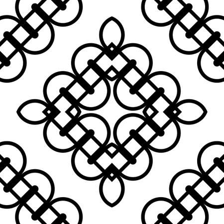 Design seamless monochrome diamond pattern. Abstract grating background. Vector art