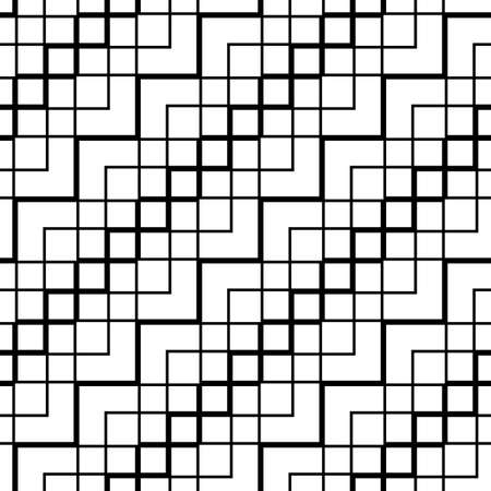 Design seamless monochrome geometrical pattern. Abstract zigzag background. Vector art
