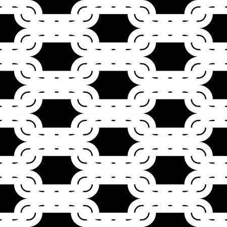 Design seamless monochrome waving pattern. Abstract background. Vector art