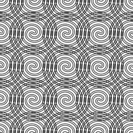 Design seamless spiral pattern. Abstract monochrome background. Vector art. No gradient