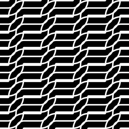 Design seamless monochrome stripy pattern. Abstract background. Vector art