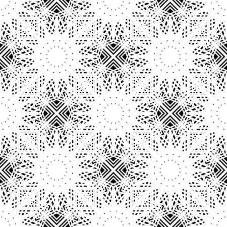 Design seamless monochrome grating pattern. Abstract background. Vector art Ilustração