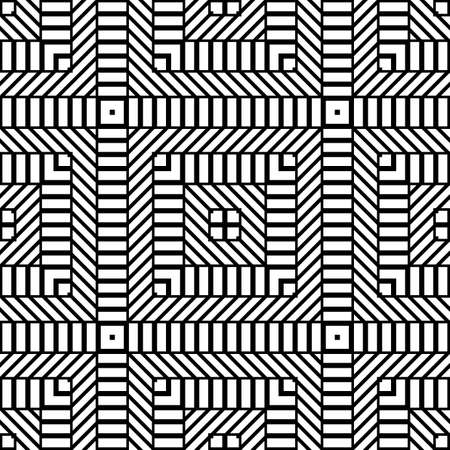 Design seamless monochrome diamond pattern. Abstract geometric background. Vector art 벡터 (일러스트)