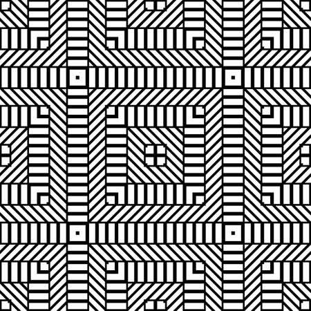 Entwerfen Sie nahtloses monochromes Rautenmuster. Abstrakter geometrischer Hintergrund. Vektorgrafiken Vektorgrafik