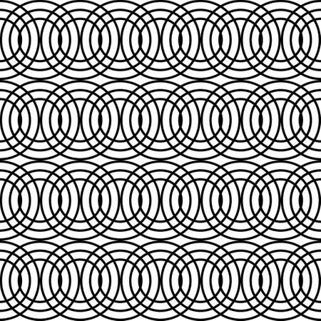Design seamless chain pattern. Abstract monochrome circle background. Vector art