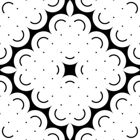 Design seamless monochrome decorative pattern. Abstract grating background. Vector art