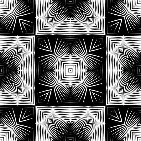 Design seamless monochrome grating pattern. Abstract geometric background. Vector art. No gradient