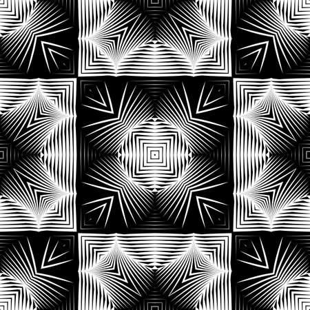 Entwerfen Sie nahtlose monochromes Gittermuster. Abstrakter geometrischer Hintergrund. Vektorgrafiken. Kein Gefälle