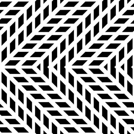 Design seamless monochrome zigzag pattern. Abstract background. Vector art Stock Vector - 123742866